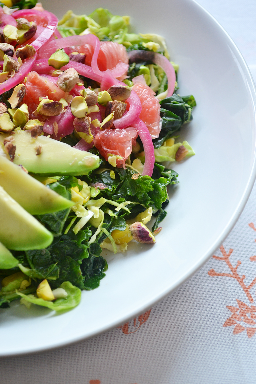 Summer Shaved Brussels Sprout and Kale Salad 1
