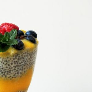 Mango and Chia Pudding Parfait