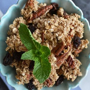 Salted Maple Pecan Granola