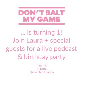 Don't Salt My Game is Having a Party & You're Invited